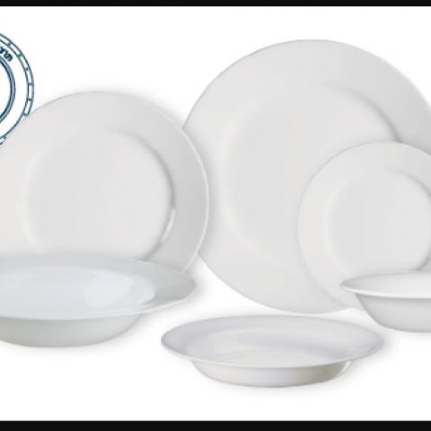 סט 18 צלחות קורנינג CORELLE® - Dazzling White ניתן לרכוש בתפזורת