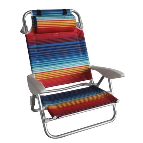 כיסא מתקפל מאלומניום כולל מצבים שונים