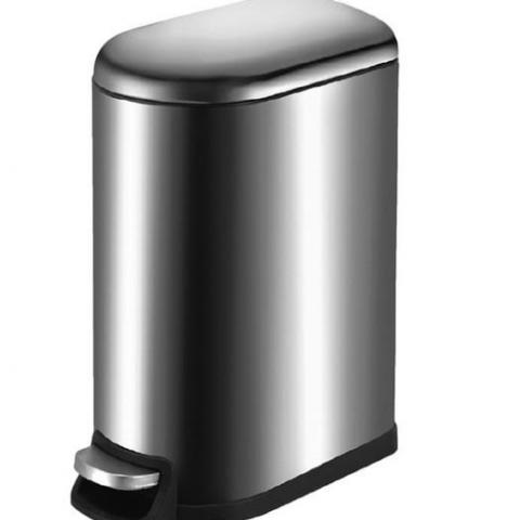 פח נרוסטה עם דוושה 40 ליטר מנגנון שקט כולל פח פנימי נשלף