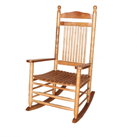 כיסא נדנדה הכל מעץ גב ומושב - חסר במלאי